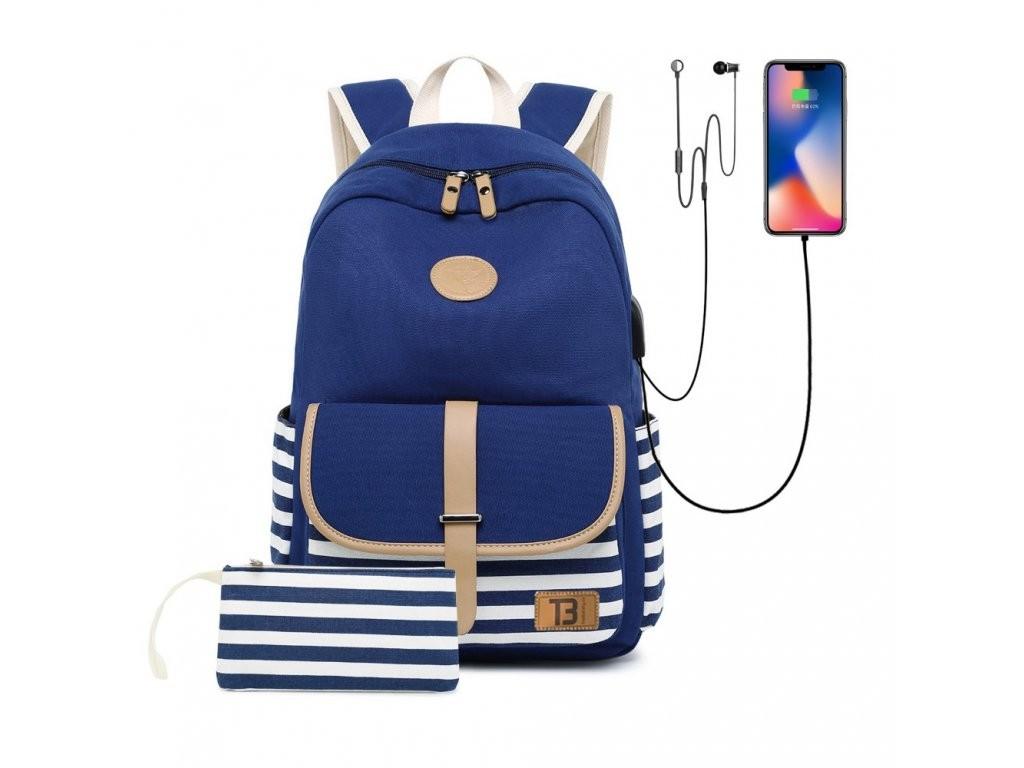 1163-1_sada-batoh-canvas-blue-stripes-19l